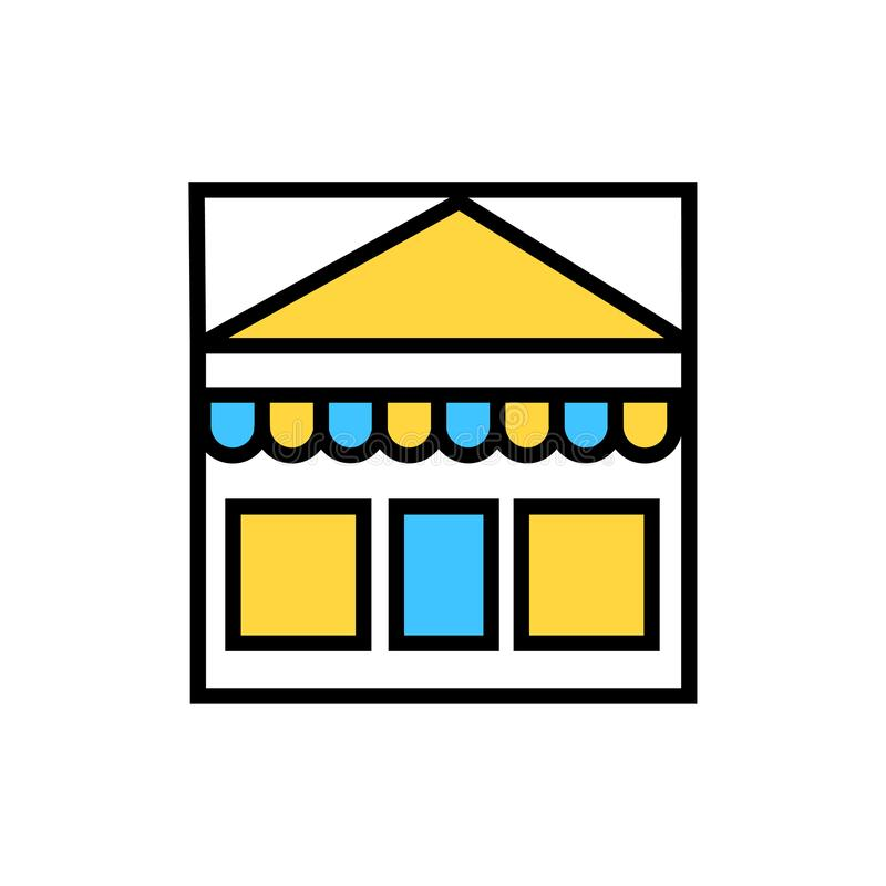 Shopping, market icon royalty free illustration
