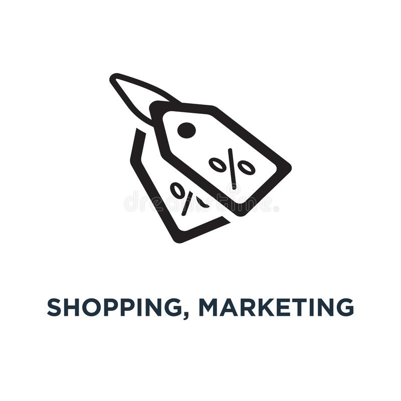 Shopping, marketing and sale icons icon. shopping illustrations. Collection concept symbol design, vector illustration stock illustration