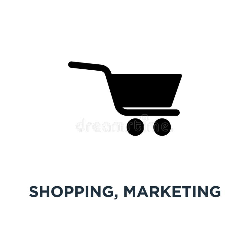 Shopping, marketing and sale icons icon. shopping illustrations. Collection concept symbol design, vector illustration royalty free illustration