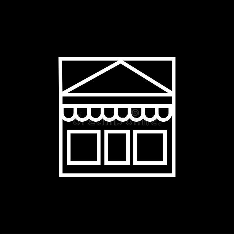 Shopping marknadssymbol stock illustrationer