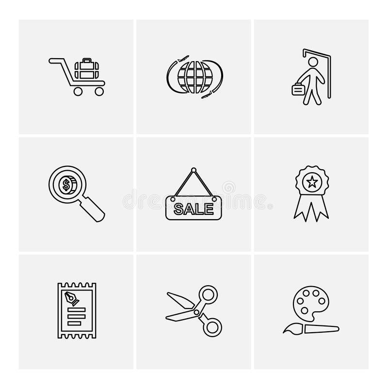 Shopping , money , bank , dollar, invoice , eps icons set vecto. Shopping , money , bank , dollar, invoice , idea , bulb, time , credit card , atm card royalty free illustration