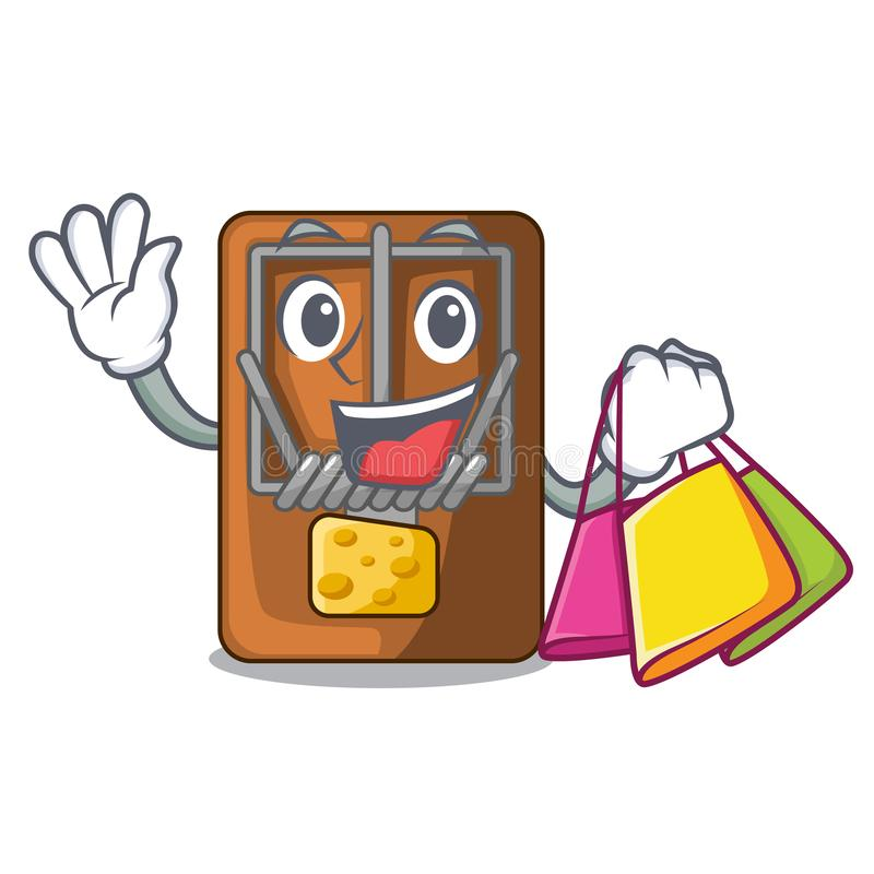 Shopping mousetrap in the shape mascot wood. Vector illustration vector illustration