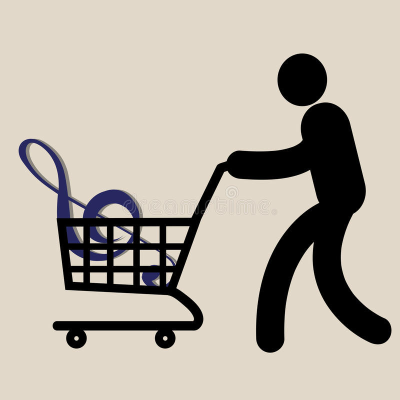Shopping Music Royalty Free Stock Photography