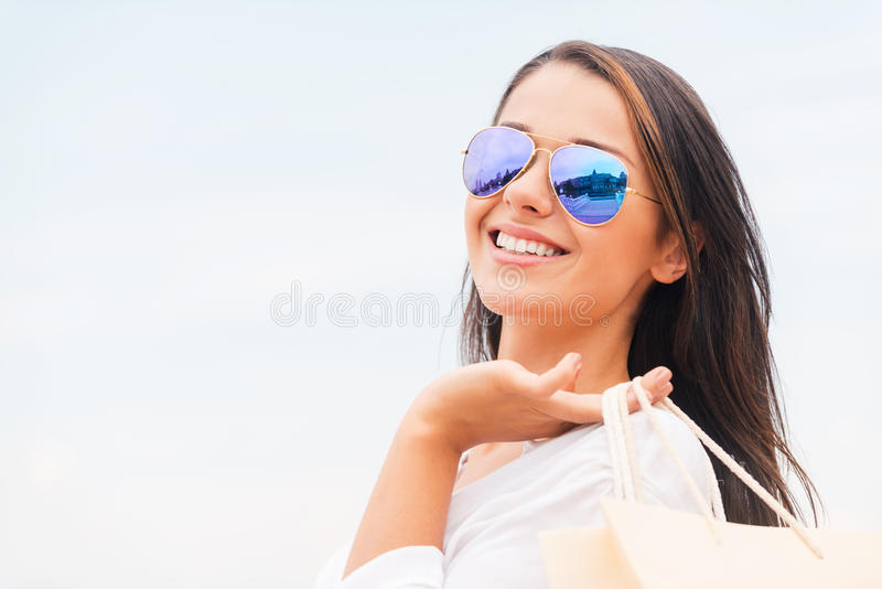 Shopping is my life! stock photo