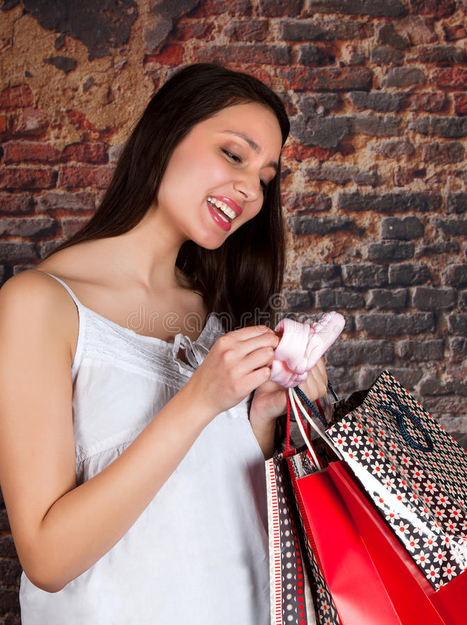 Download Shopping for the new baby stock image. Image of smiling - 28546513