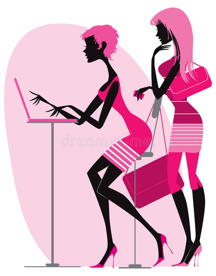 Shopping online vector illustration