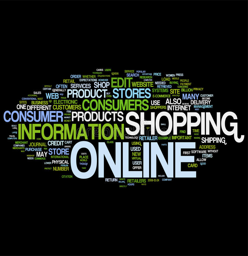 Shopping online word cloud. Email word cloud on white background, gorgeous tag clouds for your design vector illustration