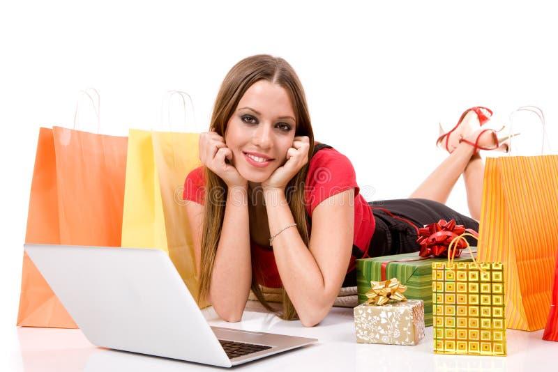 Download Shopping over internet stock image. Image of joyful, cheerful - 6899797