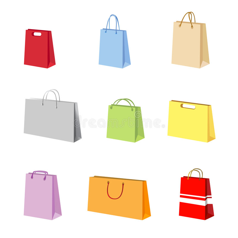Download Shopping package vector stock vector. Illustration of distribution - 5097003