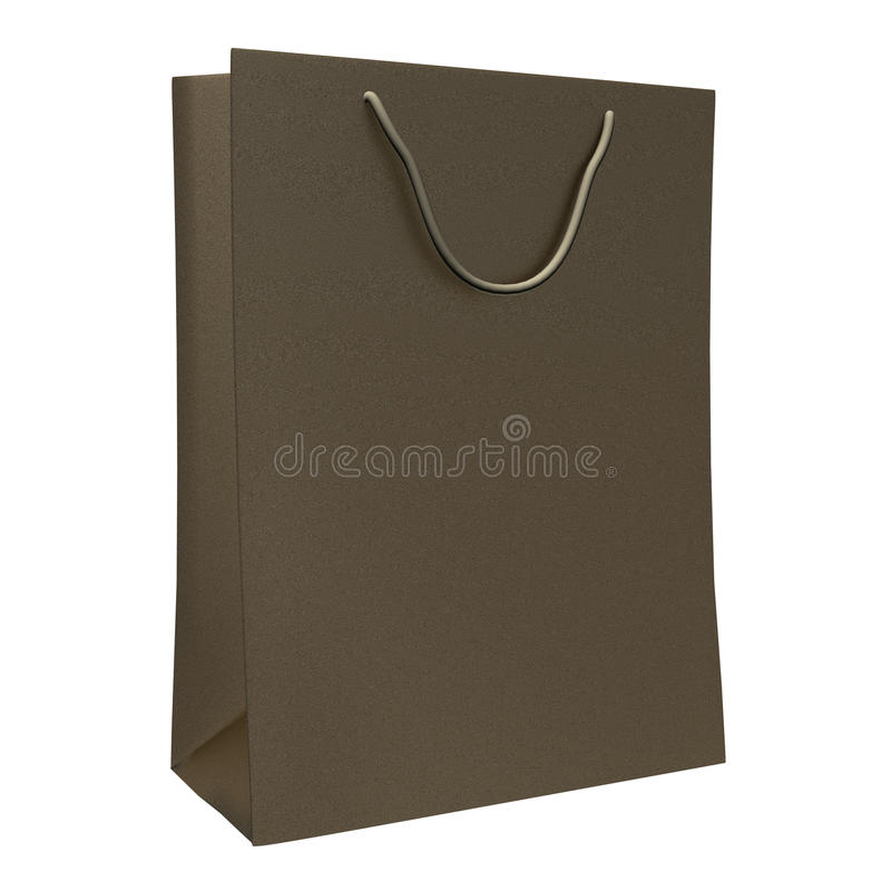Shopping paper bag. Isolated on white background vector illustration