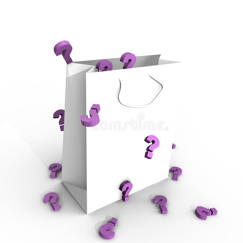 Download A Shopping Paper Bag Full Of Surprises- 3d Image Stock Image - Image: 13422521