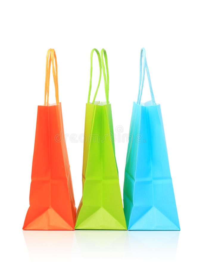 Download Shopping paper bags stock photo. Image of vivid, shopping - 16822190