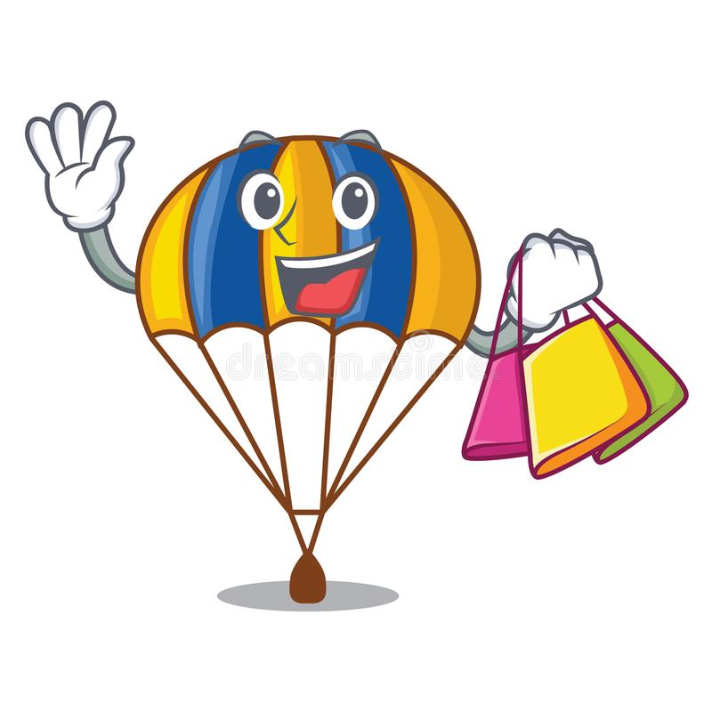 Shopping parachute isolated with in the cartoons. Vector illustration vector illustration