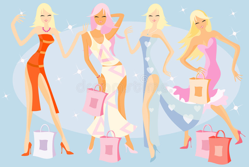 Shopping party royalty free stock image