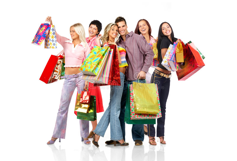 Download Shopping people stock photo. Image of isolate, love, couples - 5437904