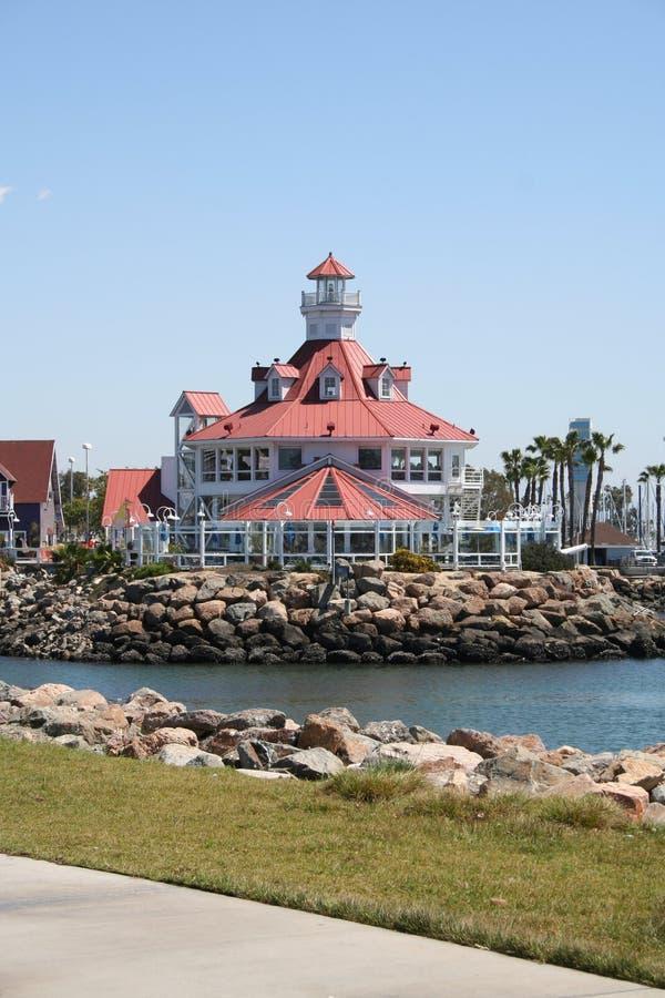 Shopping Pier at Long Beach California. Pier at Long Beach California with shopping mall stock image