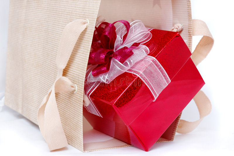 Shopping present royalty free stock photo