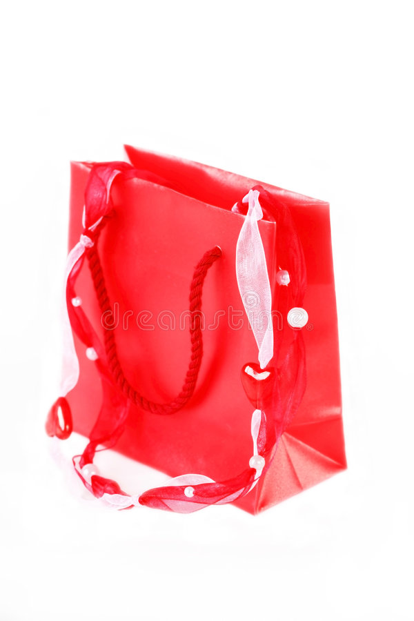 Shopping or present bag stock image