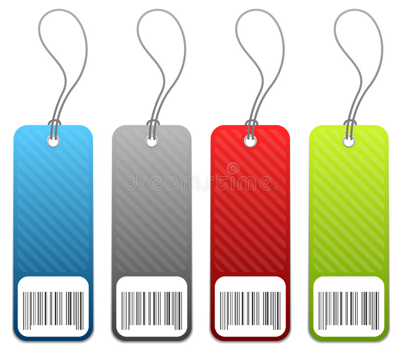 Download Shopping Price Tags In 4 Colors Stock Vector - Image: 4837338