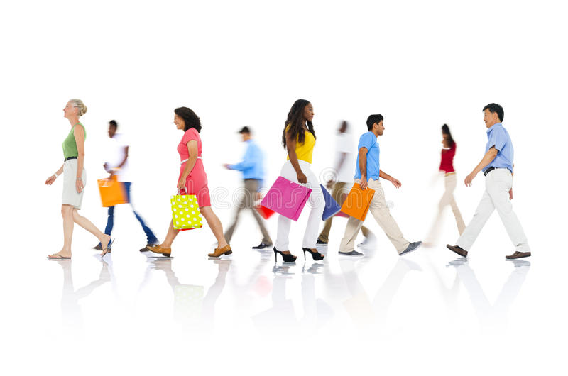 Shopping Purchase Retail Customer Consumer Sale Concept.  stock image
