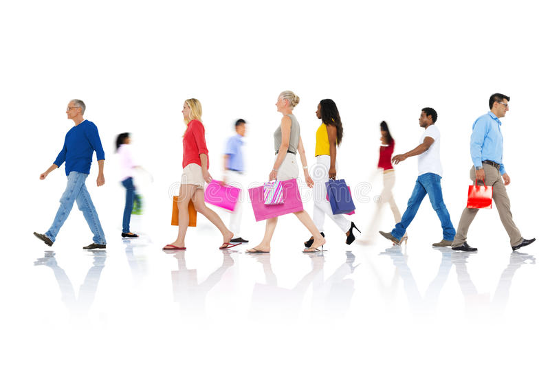 Shopping Purchase Retail Customer Consumer Sale Concept.  royalty free stock images