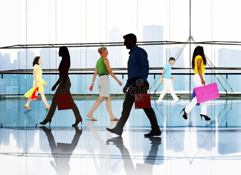 Shopping Purchase Retail Customer Consumer Sale Concept.  royalty free stock image