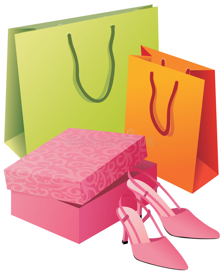 Shopping purchases stock image