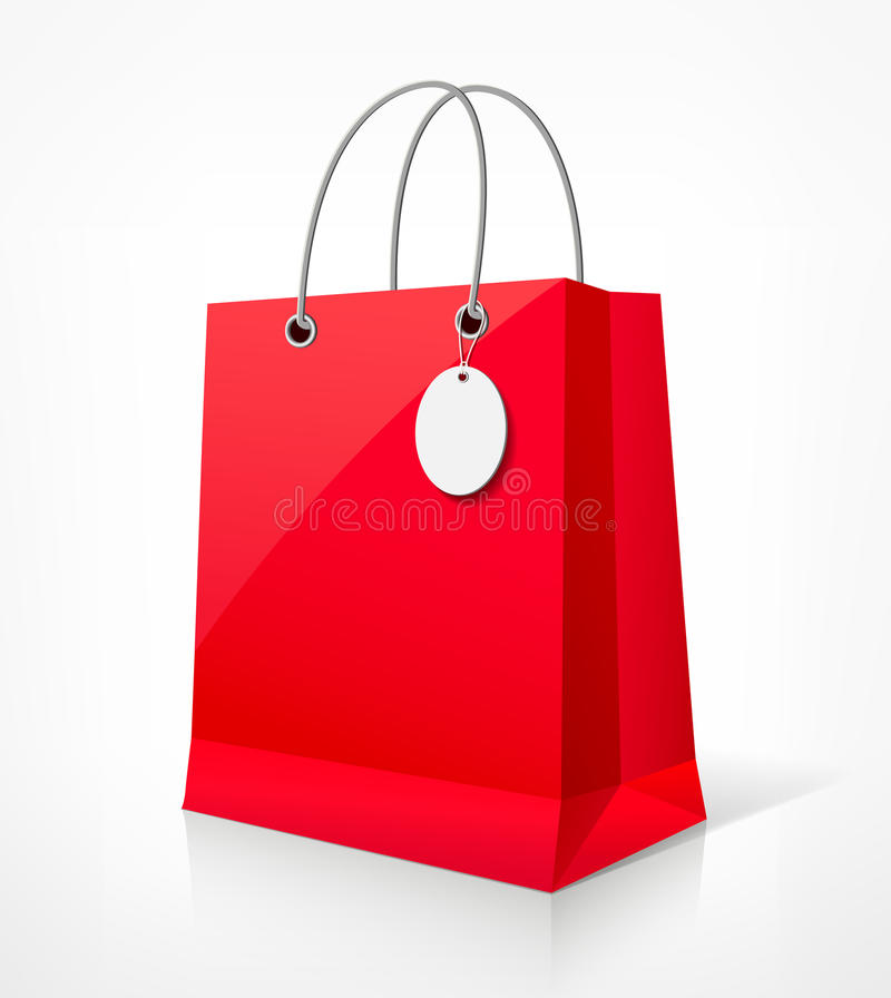Shopping Red Bag Royalty Free Stock Images