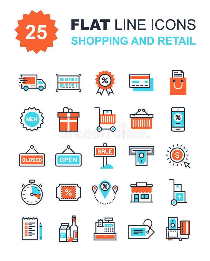 Shopping and Retail royalty free illustration
