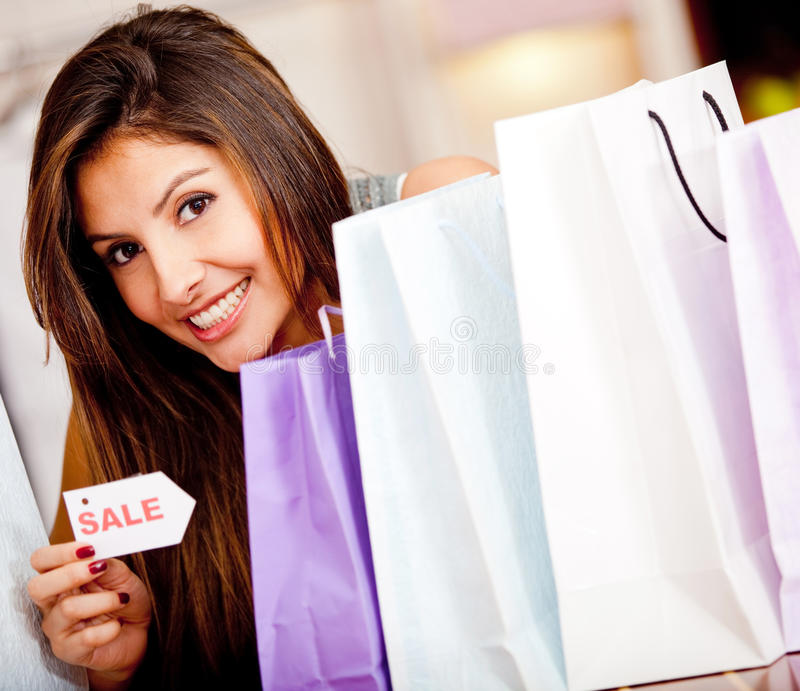 Download Shopping on sale stock photo. Image of hispanic, adult - 22792040
