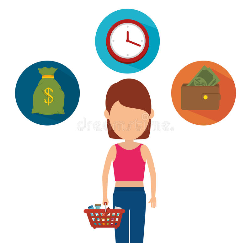 Shopping, sales and ecommerce. Graphic design, illustration eps10 vector illustration