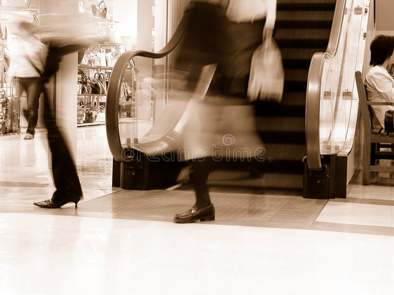 Download Shopping-sepia stock image. Image of active, interior, legs - 450491