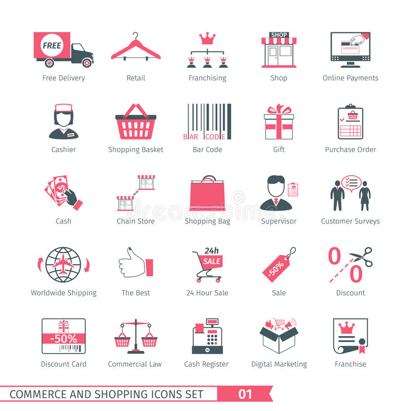 Shopping Set 01 vector illustration