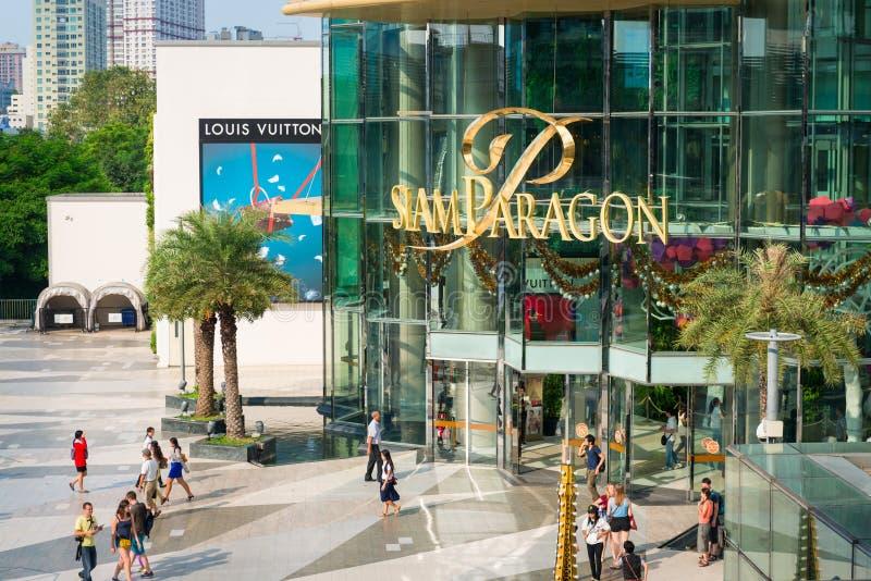 shopping siam för bangkok galleriaförebild arkivfoto