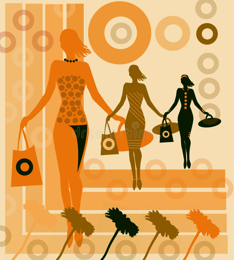 Shopping spree stock illustration