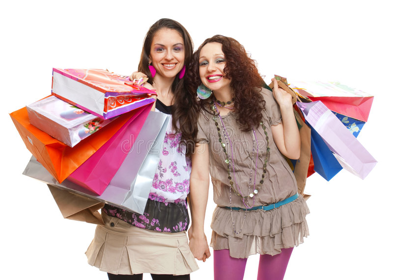 Shopping spree royalty free stock photos