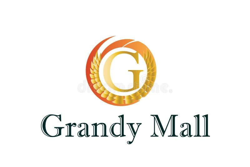 Shopping station Logo Design royalty free stock photo