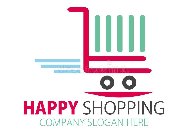 Shopping station Logo Design stock photos