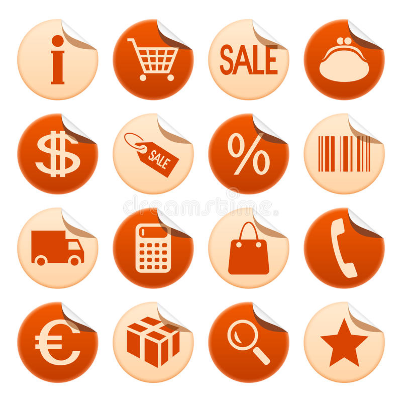 Download Shopping stickers stock vector. Image of phone, packing - 18327772