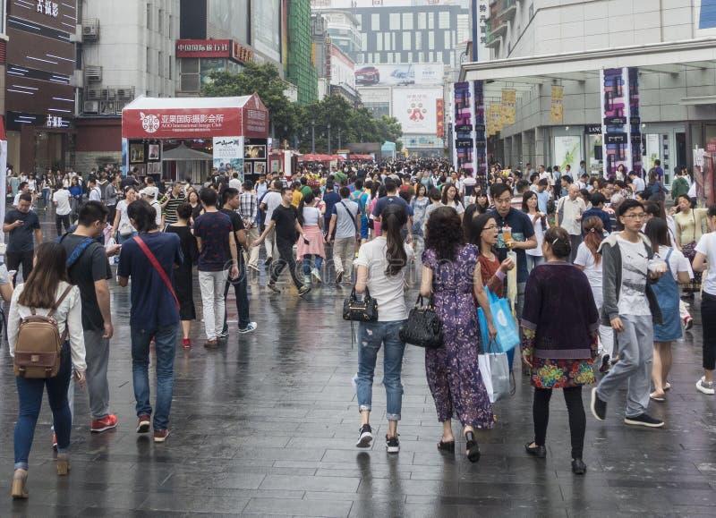 Shopping street .chengdu. Chunxi street,chinese famous business walking street in chengdu royalty free stock photos