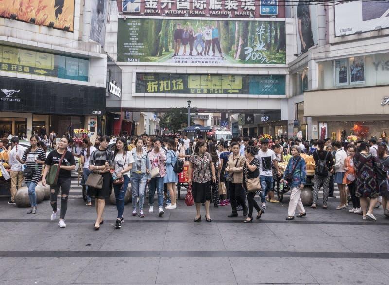 Shopping street . chengdu. Chunxi street, chinese famous business walking street in chengdu stock images