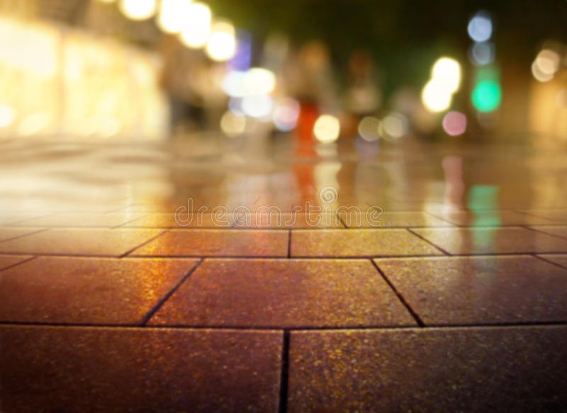 Shopping street. In the night stock photography