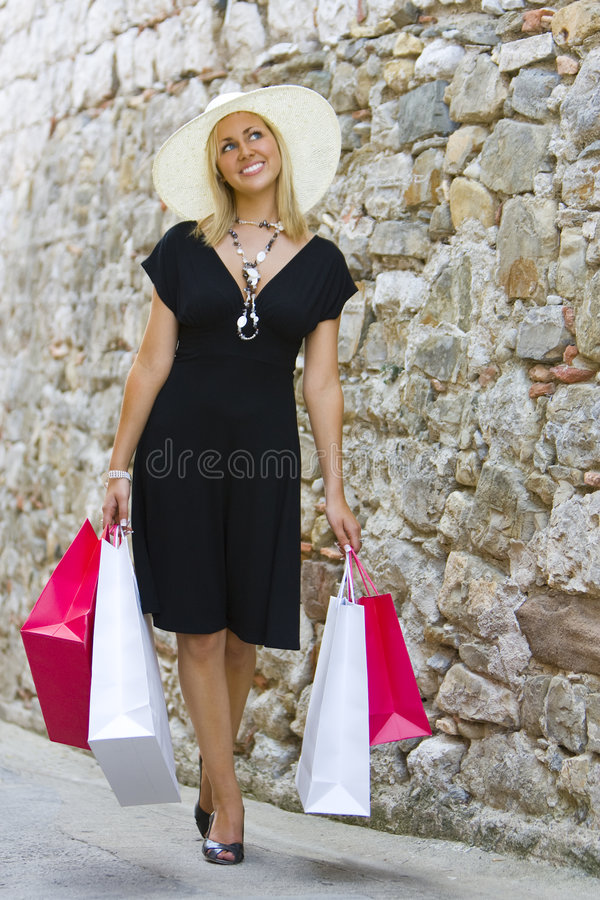 Download Shopping With Style stock photo. Image of blue, sensual - 3240434