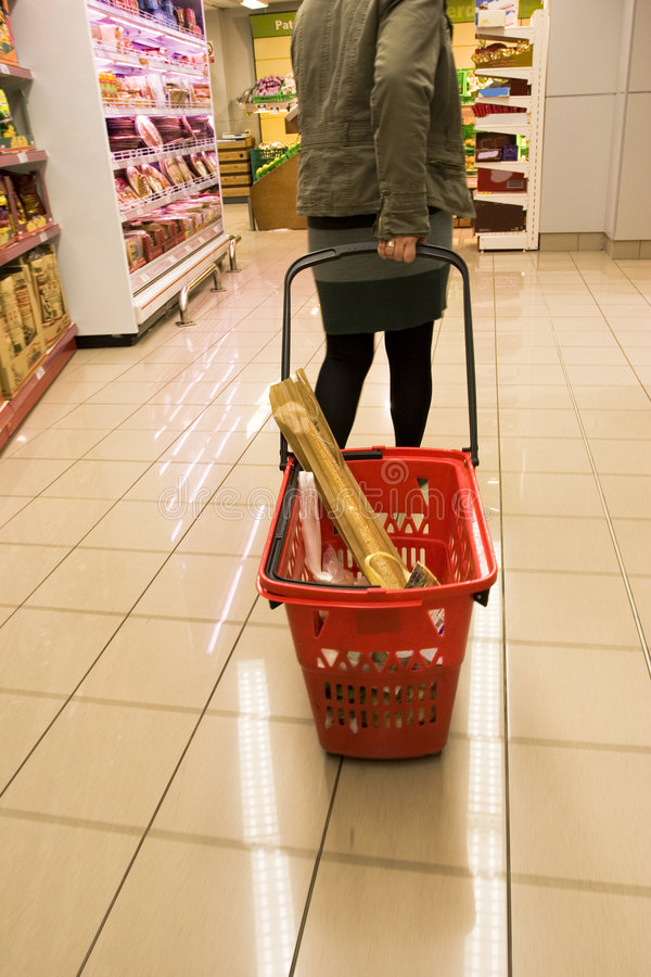 Shopping in supermarket 3 royalty free stock image