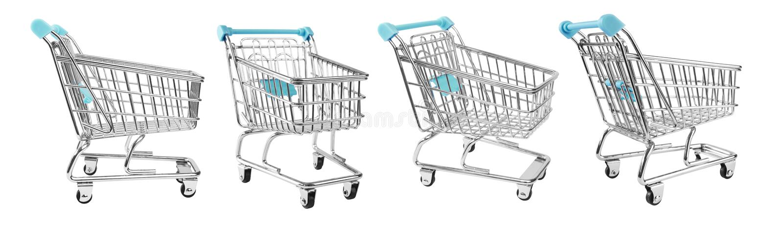 Shopping supermarket cart. CLIPPING PATHS included stock illustration