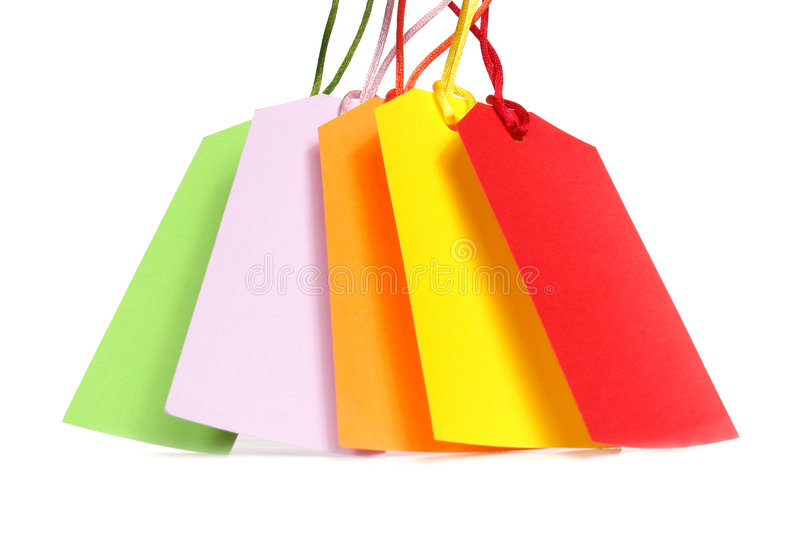 Download Shopping tags stock image. Image of trade, bargain, yellow - 6215171