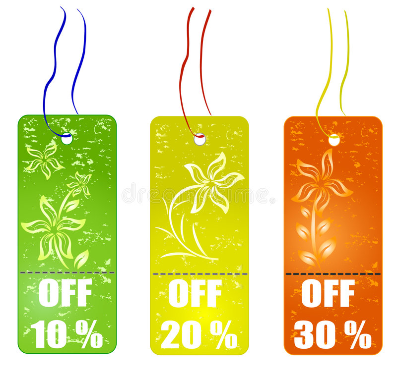 Download Shopping tags stock vector. Illustration of holiday, floral - 7388318