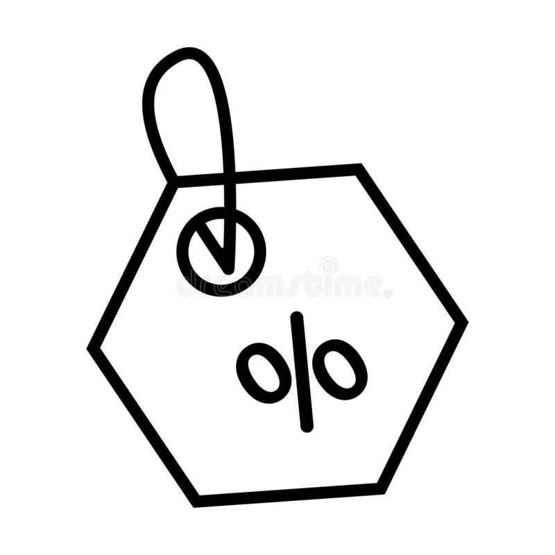 Shopping tags simple icon. Special offer sign. Discount coupons symbol. Quality design elements. Classic style. Vector. For web sites or mobile vector illustration