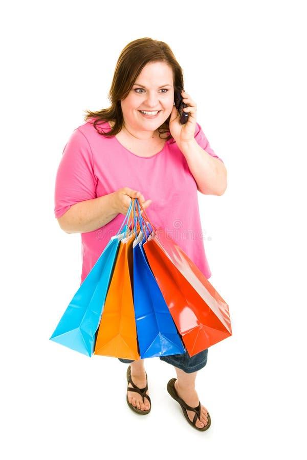 Shopping and Talking stock photos