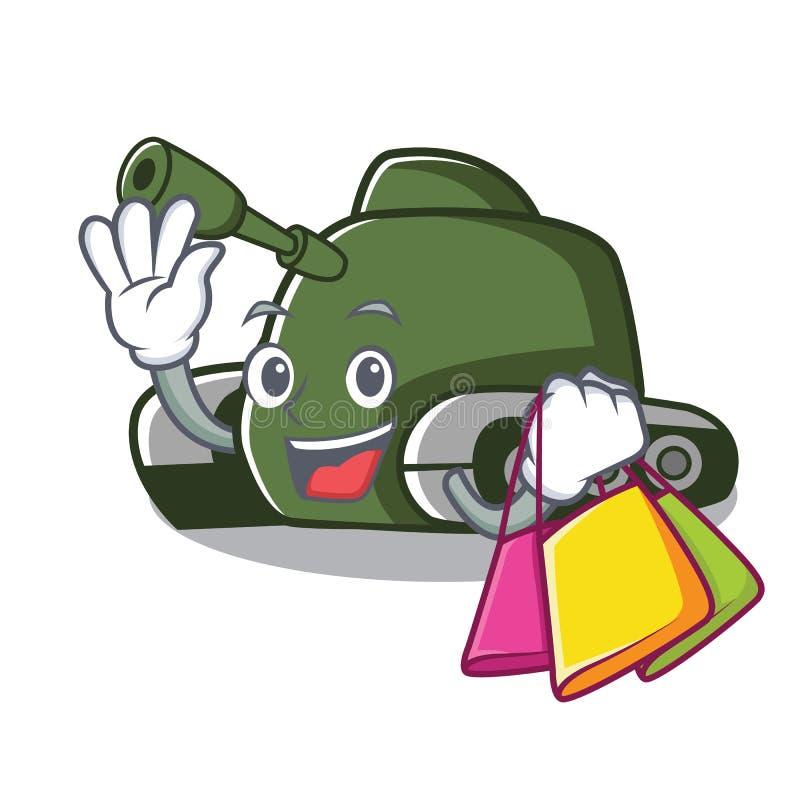 Shopping tank character cartoon style. Vector illustration royalty free illustration